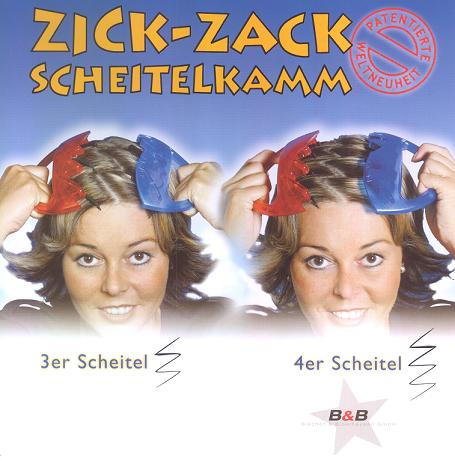 ZICK-ZACK Scheitelkamm 2 Weltneuheit 2. Version