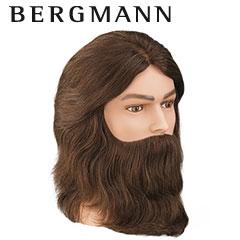 Bergmann - Übungskopf Amigo Echthaar mit Bart ca. 20 cm