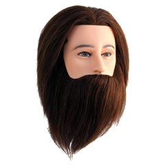 Übungskopf Gentleman Herrenübungskopf  braun mit Bart