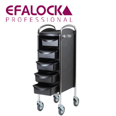 Efalock - Arbeitswagen Boy Friseurhilfe - Piccolo 6002 schwarz