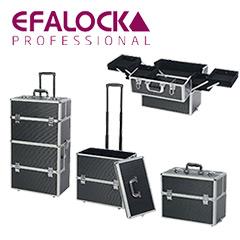Efalock Alukoffer, Werkzeugkoffer, Trolley, Black Molly