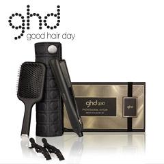 ghd Geschenkset gold Styler 2018 +Etui +Paddle Brush +Clipse +ghd Spray