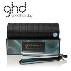 ghd glacial blue platinum+ Styler mit Etui Glätteisen Haarglätter + ghd Spray