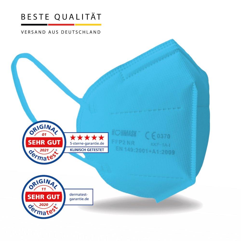 Koumask Mundschutz FFP2 Maske BLAU FFP 2 Atemschutzmaske Gesichtsmaske 1 Stück