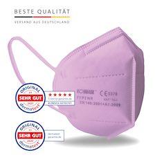 Koumask Mundschutz FFP2 Maske PINK FFP 2 Atemschutzmaske Gesichtsmaske 1 Stück