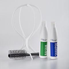 Wittkötter Perücken - Pflegeset - Pflege Shampoo Balsam Ständer Bürste