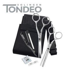 Tondeo Spider Scheren Set Offset 5,5 Zoll +Klingen +Messer+Tasche 5845