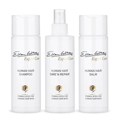 Ellen Wille Pflegeset für Echthaar Perücken Shampoo Balsam Sprühkur je 200 ml
